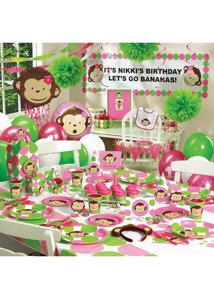 1st birthday party gear for my monkey!