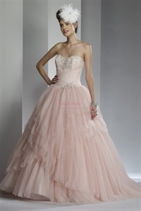 Pink Sweet Sixteen Dresses, Pink Wedding Dresses For Sale, Ball Gowns   $265.00