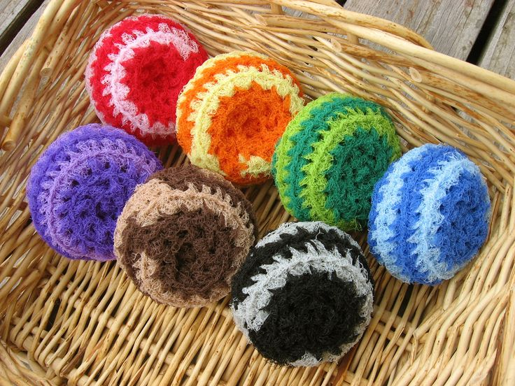 Free Crochet Patterns For Nylon Net Scrubbies : 17 Best images about Washcloths & Dish Scrubbies on ...