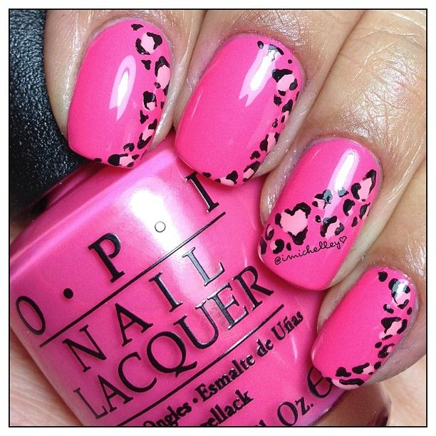 Red Leopard Print Nails Best 25+ Pink l...