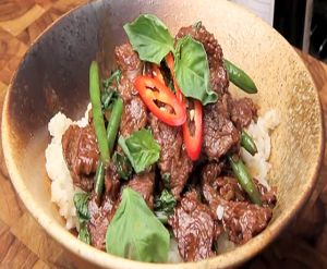 Spicy Thai beef with fresh basil. | Favorite Recipes | Pinterest