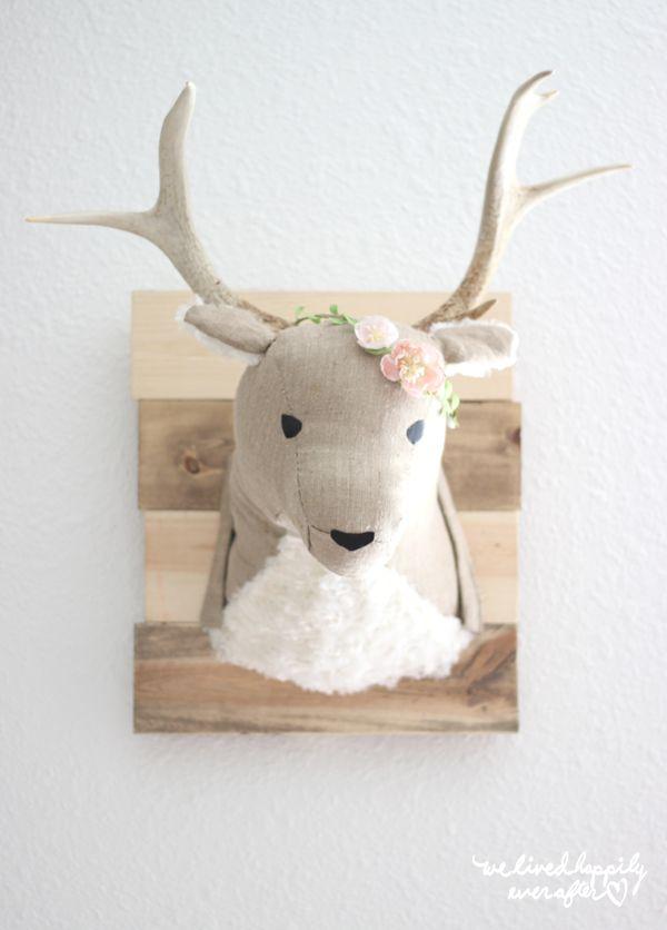 Adorable Diy Deer Head For A Child S Room
