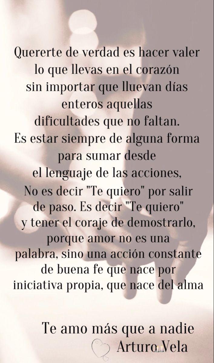 Buenos Días Amor Mío Te Amo Siempre Arturo Vela Significas Mucho Para Mi Quiero Tenerte Verdades