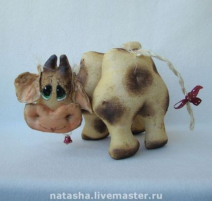Корова БУРЁНКА - корова,винтаж,винтажный стиль,коровка,игрушка корова