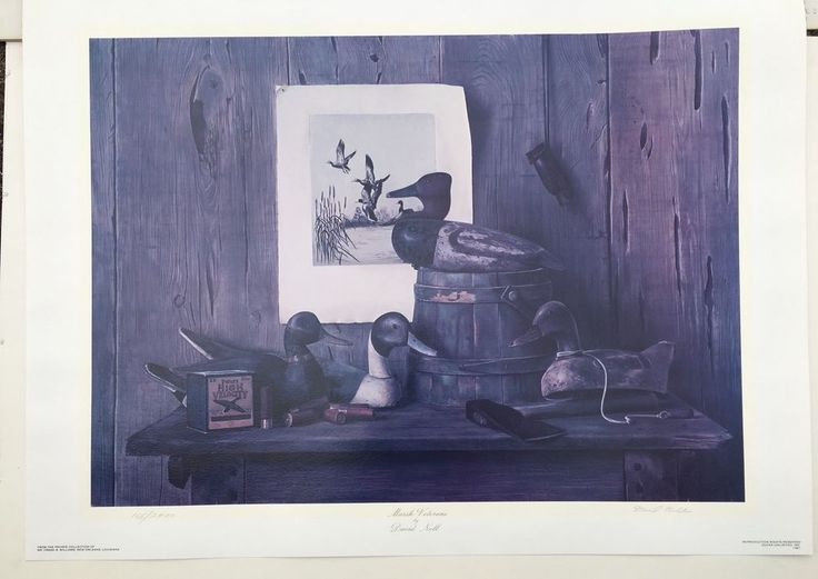 "DAVID NOLL SIGNED LTD ED 1981 PRINT ""MARSH VETERANS"" Ducks Unlimited 165/2400 | Art, Art Prints | eBay!"