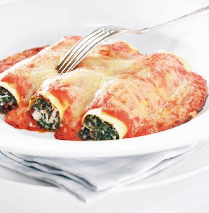 Scholfiletrolletjes met spinazie