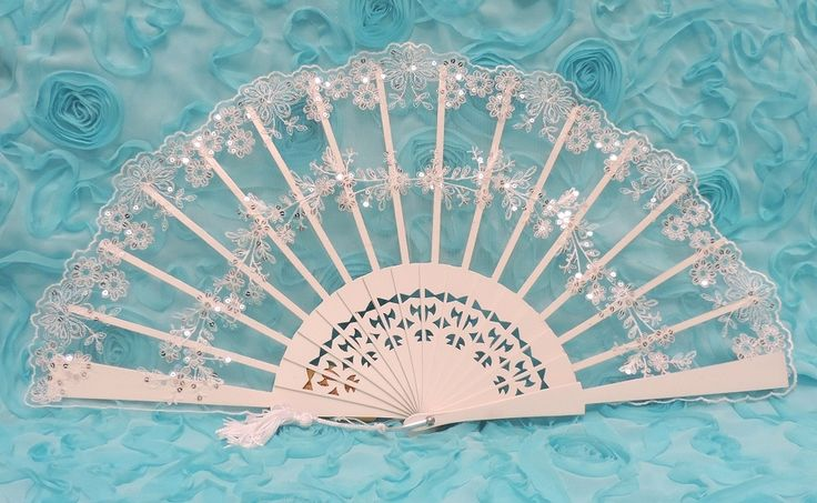 Sequin Bridal Fan