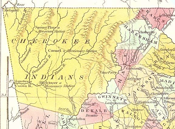 The Cherokee Land Lottery - http://www.accessgenealogy.com/georgia/the-cherokee-land-lottery.htm