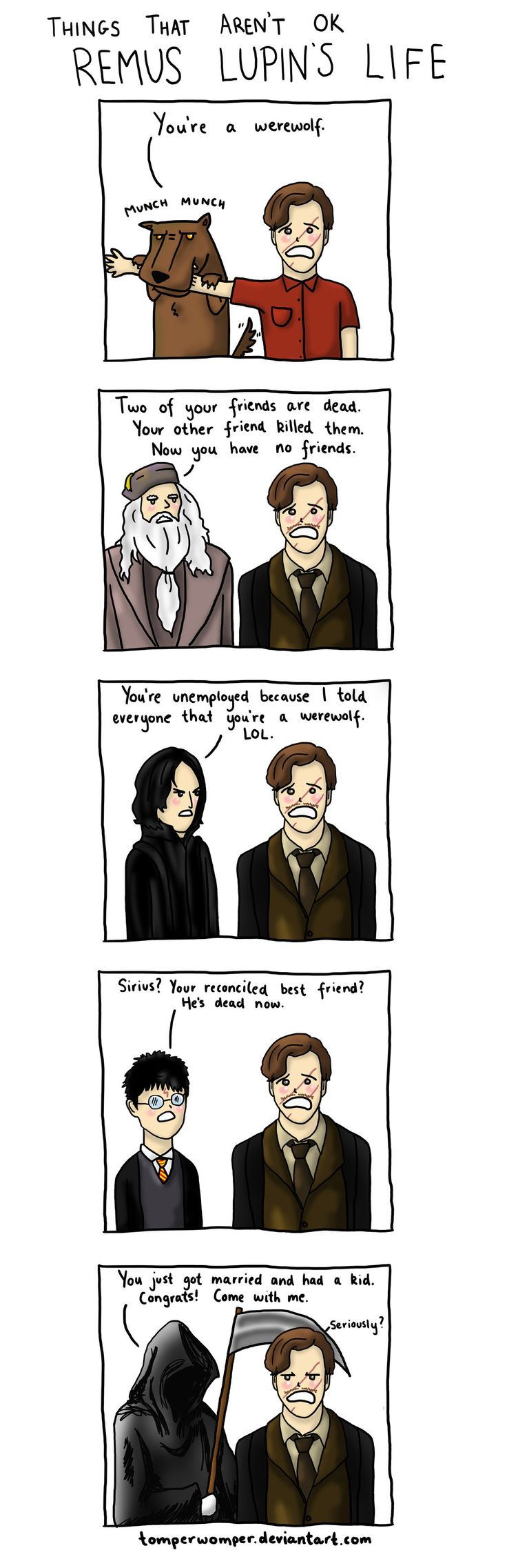 Harry Potter - Remus Lupin's Life (by tomperwomper)