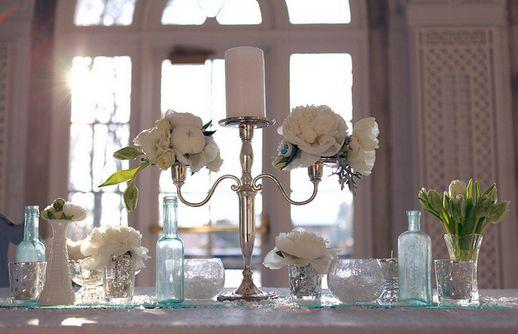 Candlestick wedding centerpieces - Tara Etrheim   design by Kio Kreations