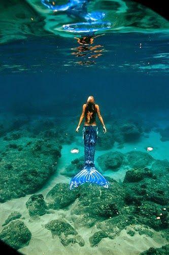 one of a kind mermaid Hannah. Real mermaids DO NOT look so beautiful.