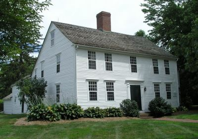 Simple Colonial.............So huge, but with food storage needs and large extended families and servants and spinning and weaving, etc. It would be filled up to the rafters.