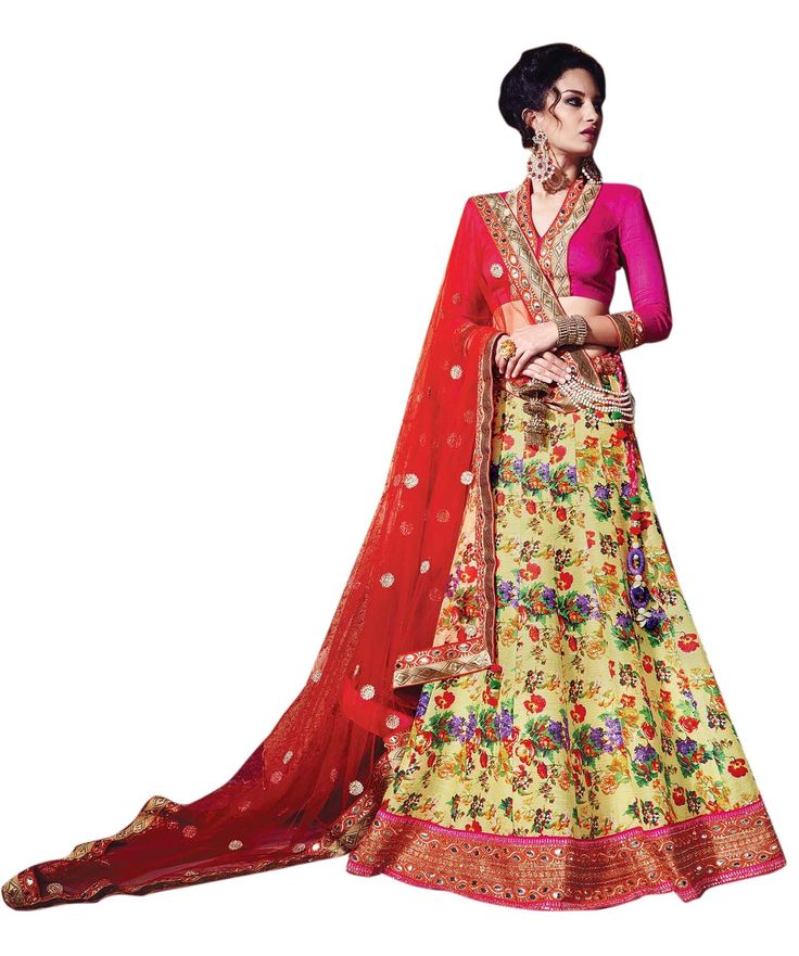 Buy Now Yellow Digital Printed Raw Silk Wedding Lehenga With Diamond Work Magenta Blouse only at Lalgulal.com  Price :- 6,265/- inr. To Order :- http://bit.ly/21GAKxL COD & Free Shipping Available only in India #lehengacholis #lehengas #bridallehengas #partywear #allthingsbridal #designerlehengas #bridallehengas #ethnicfashion #celebrity #shopping #fashion #bollywood #india #indiafashion #bollywooddesigns #onlineshopping #bollywoodsuits #partywear #collection #wedding #designer #womenswear