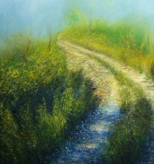 'Road to the Unknown'   2012 oil on canvas 100x100cm