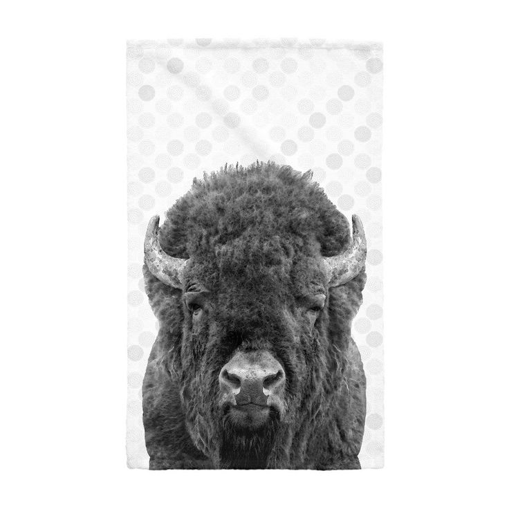 Hand towels, Bison Hand Towels, Buffalo Hand Towels