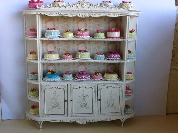 Dollhouse  miniature vintage french style shabby  by bellainrosa, $150.00