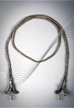 Indonesia - Sunda Islands, Eastern Sumba | Necklace; silver.  95 cm long | HP 200€ ~  sold (Nov '15) // 136031572494