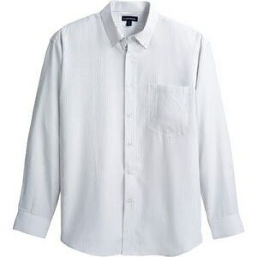 Promotional dress shirts: EZ Care fabrication for low maintenance. Finished with pearlized buttons. The men's style offers double-pleated three button cuffs, two back shoulder pleats, button down collar and a chest pocket. http://www.houseofimprints.com/brewar-long-sleeve-shirt-imprinted