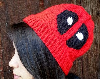 PATTERN Deadpool Beanie by TheCraftingMuse on Etsy