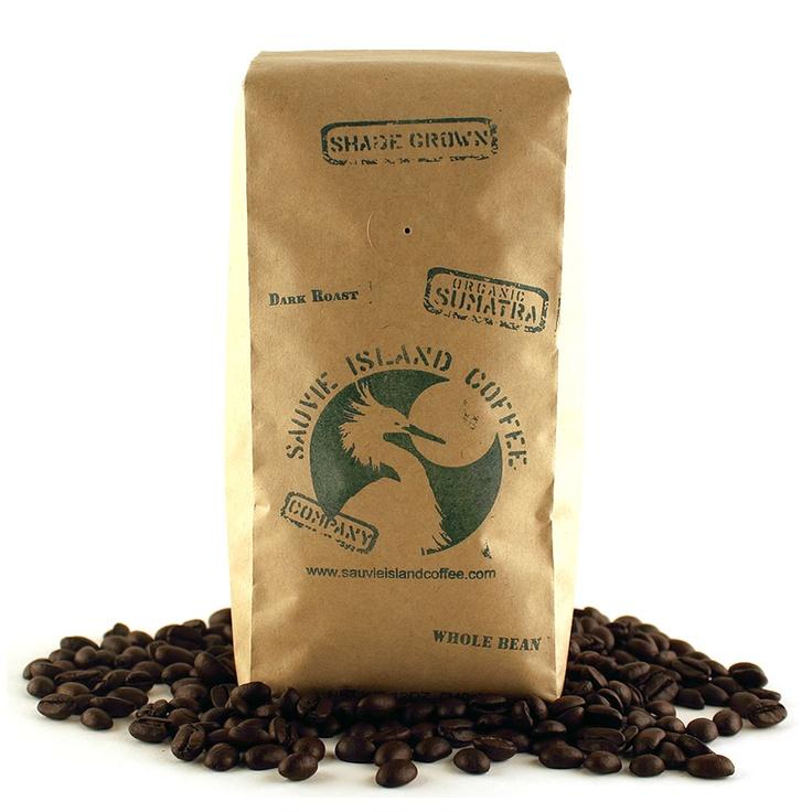 Organic Shade Grown Dark Roast Sumatra Coffee: Sauvie Island Coffee (Whole Bean)