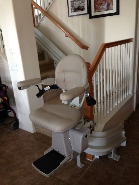curved bruno stairlift or some people call it chairway lift stairchair stairglide
