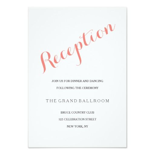 405 Best Wedding Reception Cards Images On Pinterest
