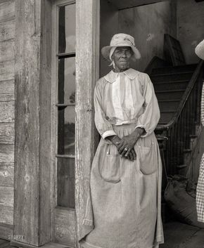 """July 1937. """"Old Negress of Greene County, Georgia."""" Medium format nitrate negative by Dorothea Lange for the Resettlement Administration. Shorpy Historic Picture Archive"""