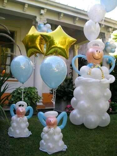 Best 25 adornos de globos ideas on pinterest arreglos for Decoracion de globos para bautizo