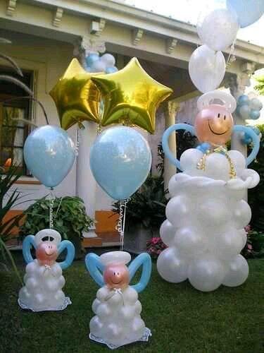 más y más manualidades: Bellas decoraciones de ángeles usando globos                                                                                                                                                                                 Más