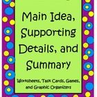 Idea, Supporting Detail, and Summary Packet is a set of worksheets ...