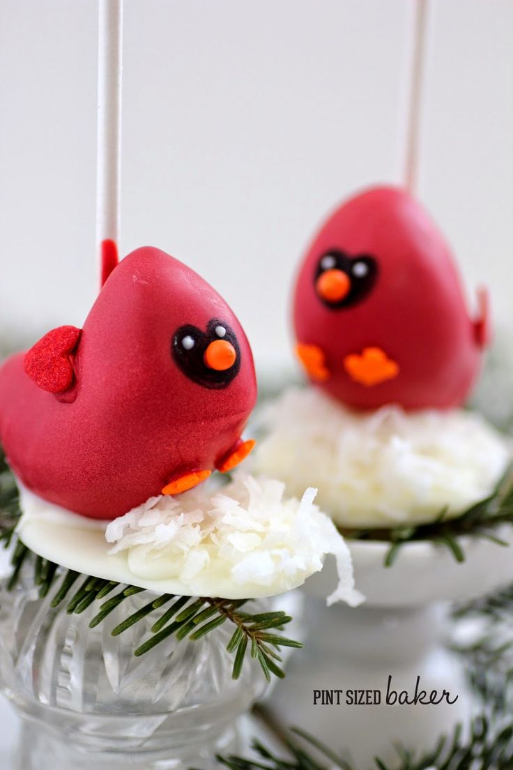 Pint Sized Baker: Cardinal Cake Pop Tutorial and Bakerella Giveaway