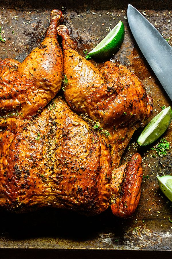 Light your taste buds up with this spicy & juicy spatchcocked chicken, if you're looking for a rotisserie chicken recipe, the flavor of this grilled chicken won't disappoint.