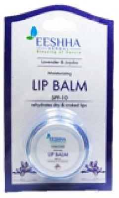Eeshha Herbal - Lip Care - Lavender and Jojoba Moisturizing Lip Balm SPF 10