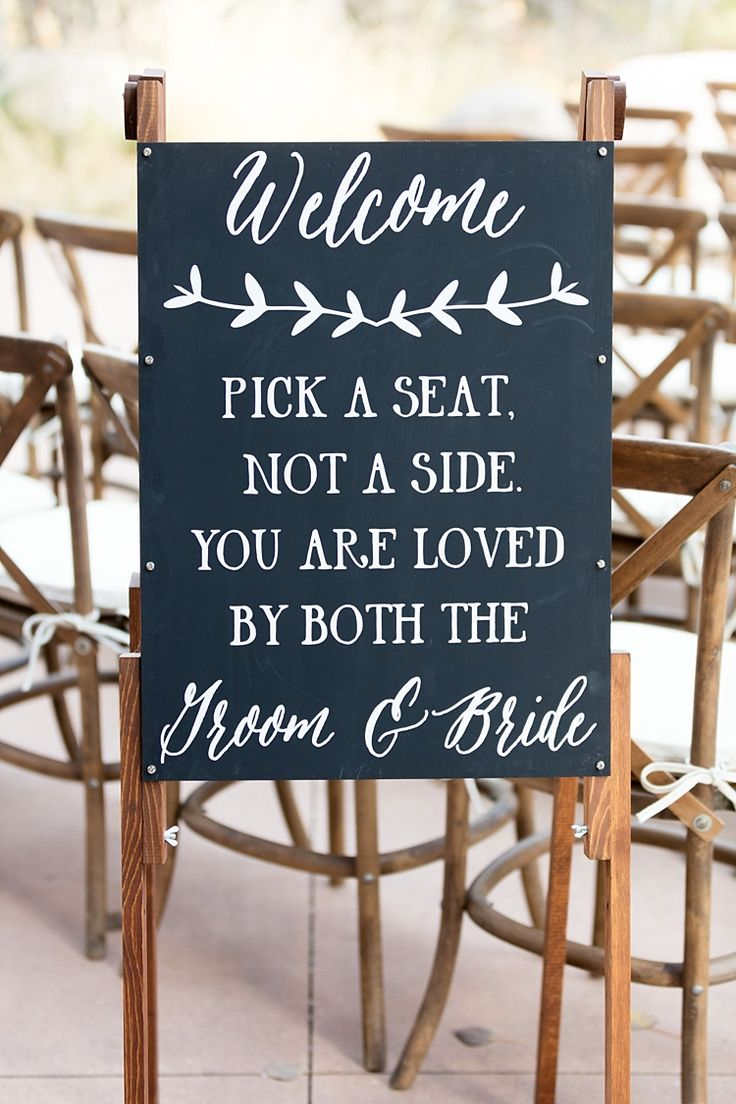 Ceremony Welcome Sign Wooden Frame Blackboard White Calligraphy Romantic Mountain Wedding Colorado http://irvingphotographydenver.com/