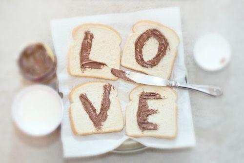 Desayuno con mucho LOVE y nutella