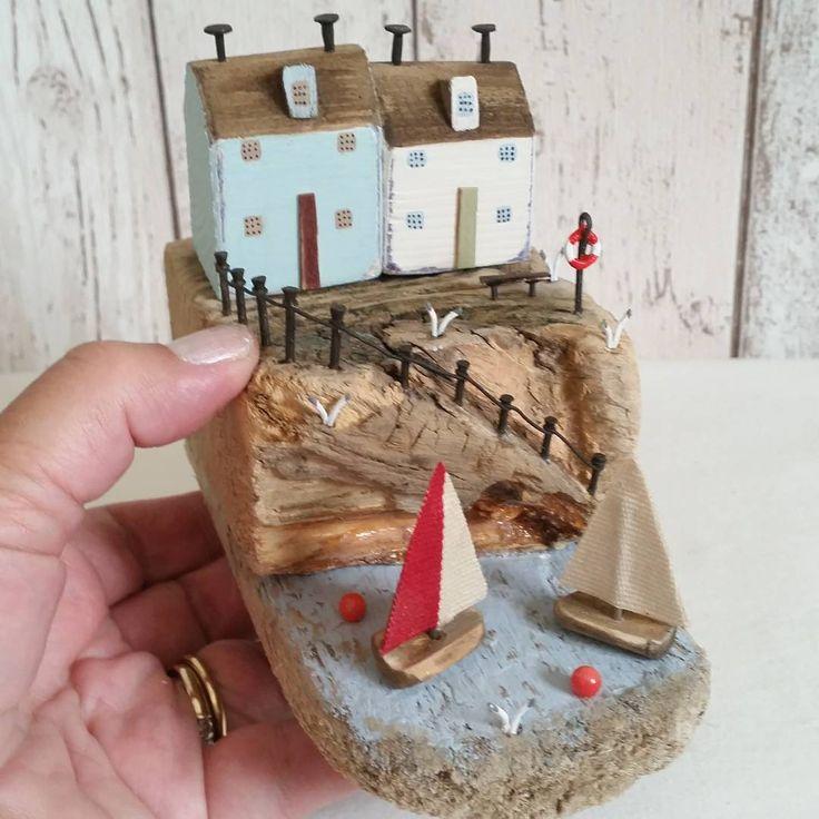 Sail away.  #driftwood #shabbydaisies #driftwoodart #rustic #rusticart…