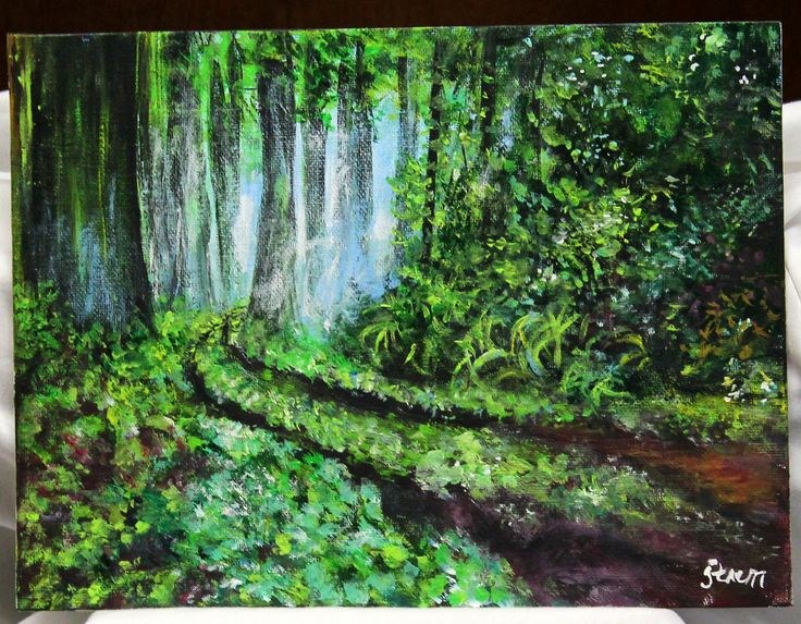 26 best images about forests on pinterest acrylic for Painting a forest in acrylics