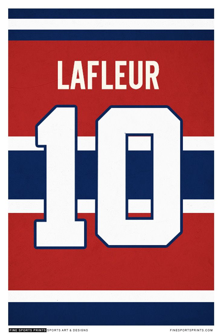 """Guy Lafleur jersey on Print. See more at www.finesportsprints.com #lafleur #canadiens #jersey"""