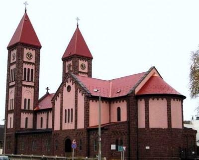 De speciale Rode kerk in #Balatonfured aan het #Balatonmeer in #Hongarije.