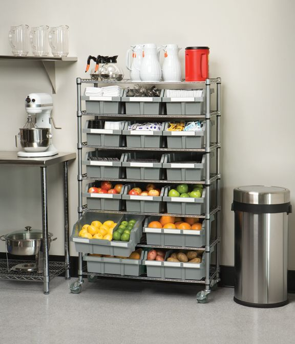 utilizing the commercial grade bin rack system to organize and store rh pinterest com