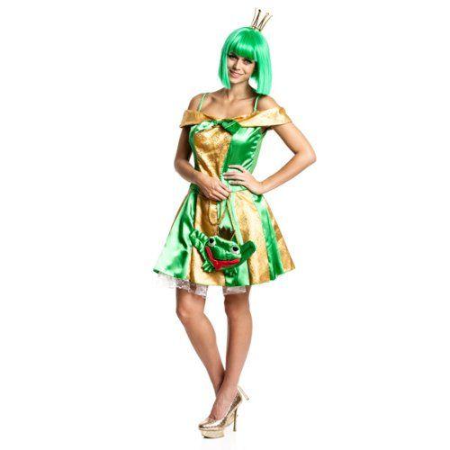 Kostümplanet® Froschkönigin Kostüm sexy Märchen Frosch Königin Größe 40/42