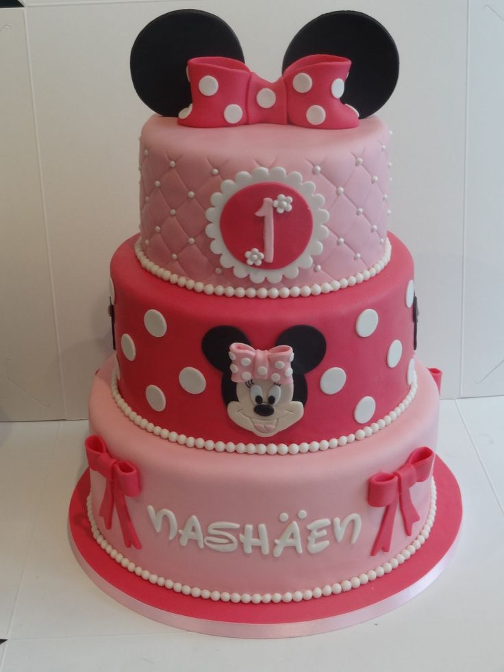 Always cute the Minnie Mouse cake
