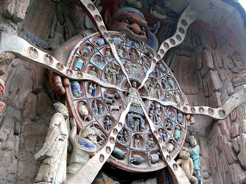 Buddhism Wheel of Reincarnation, Baodingshan,Dazu