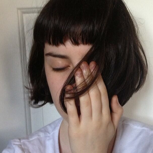 Short Blunt Fringe Hairstyle