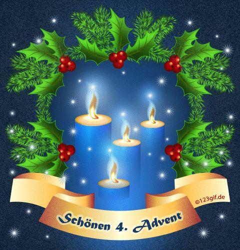 4.Advent Bild 4.advent-0002.gif kostenlos auf deiner Homepage einbinden oder als Grußskarte versenden | 123gif.de