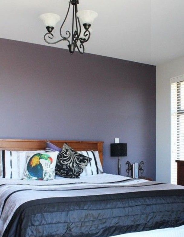 The Desire For A Romantic Colour For The Master Bedroom Feature Wall Ended Up In Feature Wall Bedroom Bedroom Paint Colors Master Relaxing Master Bedroom Decor