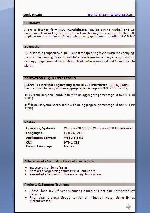 28920 best Brainfood images on Pinterest Cv format, Resume - resume freshers format download