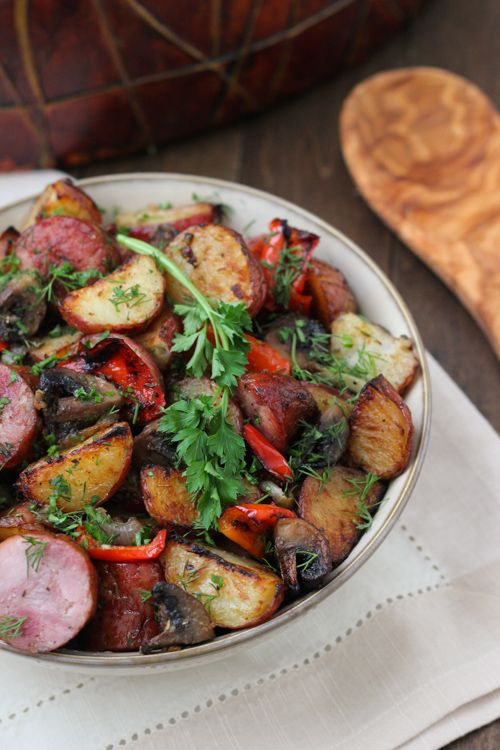 Roasted Potato, Sausage and Pepper Dinner