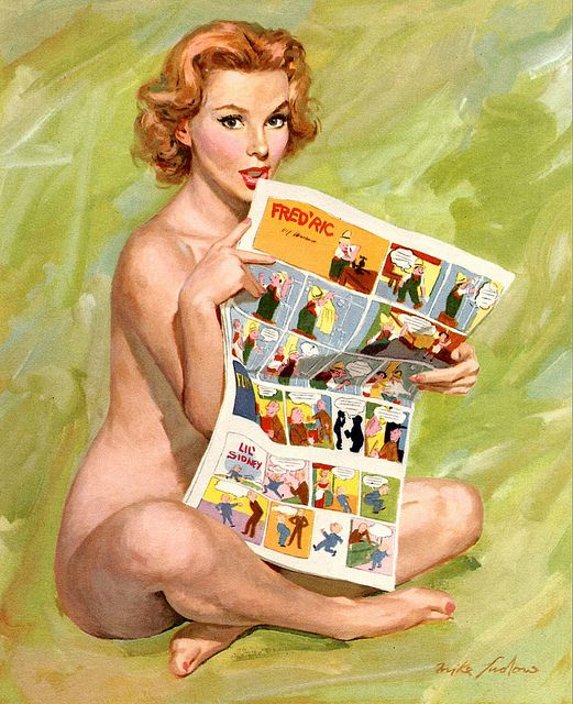 Image result for pin ups art reading