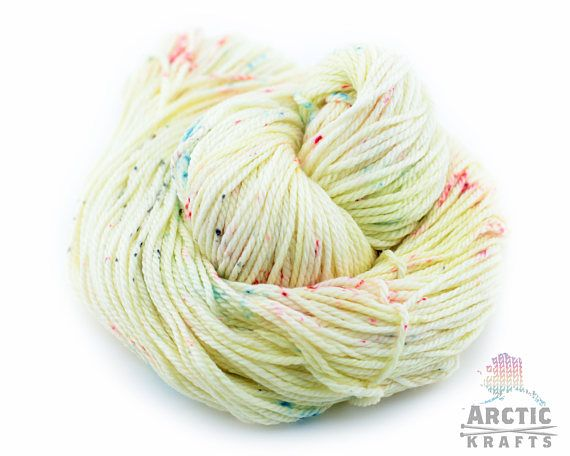 Pixie dust hand dyed worsted/aran weight yarn. 181 yards